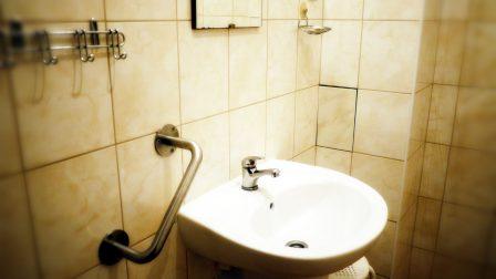 na zdjęciu łazienka z oporęczowaniem dla osób niepełnosprawnych