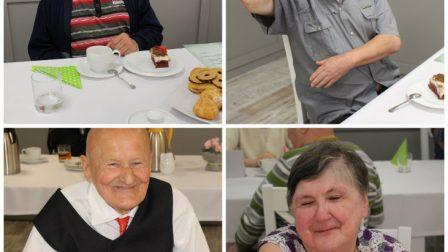 na zdjęciu collage ze zdjęciami uśmiechniętych kobiet i mężczyzn